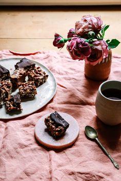 nut truffle square slice gluten free healthy sweetpea darlingheart rice bubble slice no bake coconut oil chocolate healthy