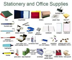 Stationery and Office Supplies.