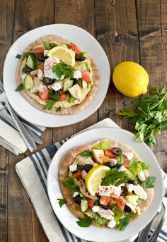 These Mediterranean Chicken Tostadas might be the easiest dinner idea ...