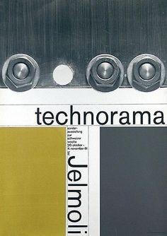 Werner Zryd, exhibition poster technorama for Jelmoli, 1961. Switzerland.