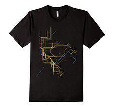 NYC Subway via Amazon.com $19.99 with Prime Shipping: Shirts, T-Shirt, Tee, NYC, New York City, Subway, Brooklyn, Subway Map, Kids, Mens, Womens