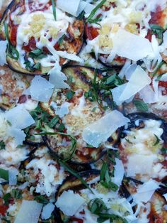 Grilled Eggplant Parmesan DMR:A lot faster and fewer steps than fried eggplant parmesan...plus less fat