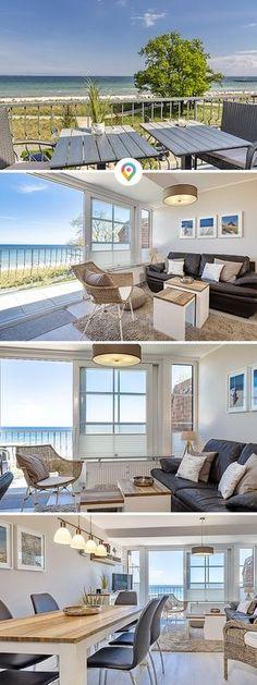 Meereszauber im Hause Windrose. 4-Zimmer-Ferienwohnung über 2 Ebenen, drei Schlafzimmer, Terrasse und Balkon, zwei Bäder und ein PKW-Stellplatz für bis zu 4 plus 1 Personen.