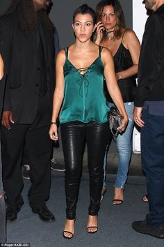Steal Kourtney's style in a WYLDR camisole #DailyMail Click 'Visit' to buy now