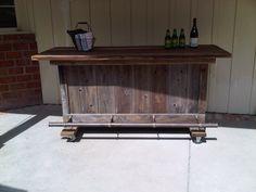 Our outdoor bar