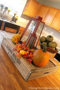 Vintage Fall Decor & My Farmer's Market Finds :: Hometalk
