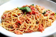 Pasta with Tomato-Blue Cheese Sauce. Pioneer Woman gets me again. I just love her pastas.