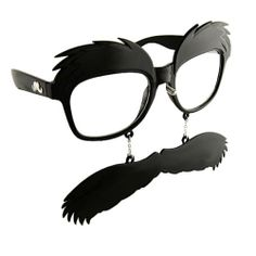27eec5cb0a Bushy Eyebrows   Moustache Clear View Wayfarer Style Glasses Geek Charm  Mustache Mustache Costume