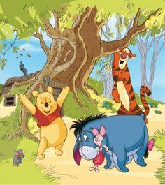 Cute Foto Tapeten Kinder Fototapete Kinderzimmer Winnie Pooh FDDXL