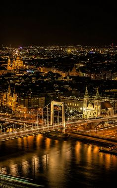 Budapest in night, Hungary Cool Places To Visit, Places To Travel, Wonderful Places, Beautiful Places, Simply Beautiful, Travel Around The World, Around The Worlds, Europa Tour, Budapest City