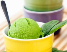 Spinach and Avocado Ice Cream