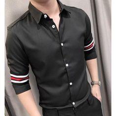 Áo sơ mi nam phối sọc tay tròn MÃ SỐ: 0096 ❌Chất liệu: kate lụa Hàng có sẵn, ship toàn quốc. Size : M(45-57KG), L(58-65KG), XL(66-75KG) Màu sắc : trắng, đen Giá: 240k Mua hàng: 0906.87.83.86 - 09.666.333.21 ( zalo , viber , mess, call ) Best Casual Shirts, Smart Casual Men, Stylish Shirts, Gents Shirts, Mens Polo T Shirts, Mens Designer Shirts, Designer Suits For Men, Boys Kurta Design, Polo Shirt Outfits