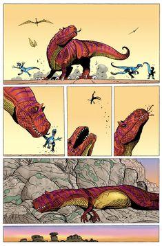 อ่าน Age of Reptiles - The Hunt ตอนที่ 1 TH แปลไทยล่าสุด by Ricardo Delgado Jurassic World Dinosaurs, Jurassic Park World, Dinosaur Drawing, Dinosaur Art, Bd Comics, Cute Comics, Character Art, Character Design, Dinosaur Funny