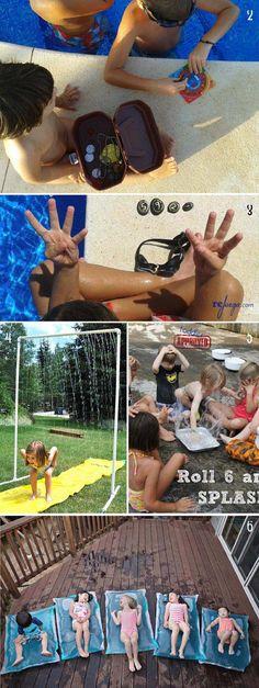 juegos para ninos con agua para el verano