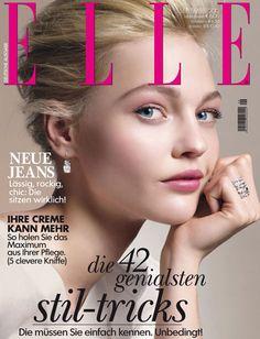 Sasha Pivovarova covers Elle Germany September 2012 issue