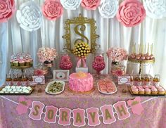 Royalty Baby Shower - Pink and Gold Baby Shower