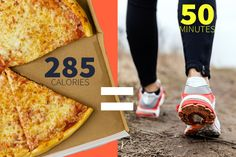 find out how much exercise it takes to burn off pizza and all the guilty foods you love - interesting & helpful ;)
