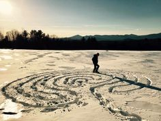 Snow Labyrinth in Maine