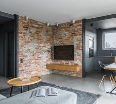 Design Salon, Nordic Design, Exposed Brick, My Room, Home Interior Design, New Homes, Loft, Lounge, Patio
