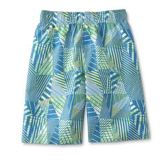 Joe Boxer Boys' Swim Trunks - Palm Trees, Size: Medium, Irish Green