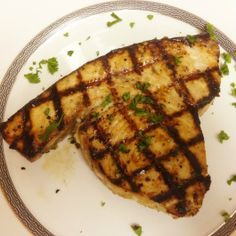 This Paleo Swordfish recipe uses a marinade that is great with almost any type of fish! Grill or bake it, both taste great! Grilled Swordfish, Swordfish Recipes, Grilled Fish, Best Paleo Recipes, Primal Recipes, Diet Recipes, Healthy Meals To Cook, How To Eat Paleo, Shellfish Recipes