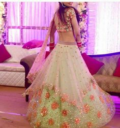 70 Trendy Wedding Reception Dress For Bride Bling Style Indian Wedding Outfits, Indian Outfits, Eid Outfits, Engagement Dresses, Lehenga Designs, Bridal Lehenga, Lehenga Choli, Green Lehenga, Lengha Dress