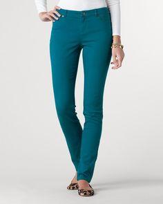 Denim slim-leg jeans