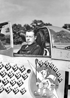 John C. Meyer 352FG P51 Mustang ace This aircraft is parked at Lackland AFB, Texas...