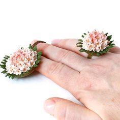 Gently pink crochet set crochet choker crochet ring от LozArts