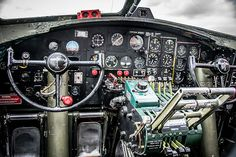 control panel of B 17 Bomber