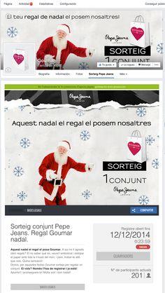 Sorteig amb aplicació de Facebook per a Goumar. Promoció Xarxes socials.