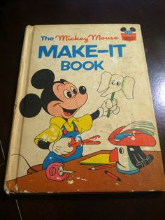 The Mickey Mouse Make-It Book - vintage Disney children's craft book on Etsy, $5.00