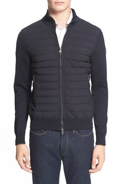MONCLER Channel Quilted Knit Track Jacket. #moncler #cloth #