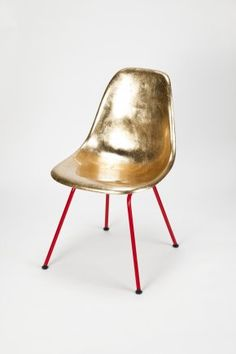 eames gold chair