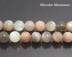 Mixcolour Moonstone χάντρες, φυσικό λεία και στρογγυλή σχήματος χάντρες, 6 χιλιοστά 8 χιλιοστά 10 χιλιοστά 12 χιλιοστά, 15 ίντσες 1 σκέλος