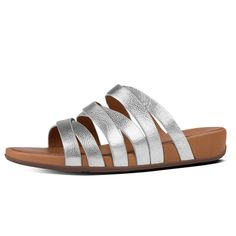 9583fe6c2e46b1 Fitflop Women s Lumy Leather Slide Silver - Shop Now At Shoolu.com Silver  Shop
