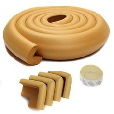 KF Baby Table Edge Guard with 4 Corner Guards, Goldenrod  - Click image twice for more info - See a larger selection  of  Baby edge and corner guards at   http://zbabybaby.com/category/baby-categories/baby-safety/baby-edge-and-corner-guards/  - gift ideas, baby , baby shower gift ideas  « zBabyBaby.com