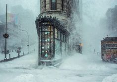 The Winners of the National Geographic Travel Photographer Awards of 2016Jonas Blizzard And The Flatiron Building, New York, United States