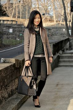 Great coat + Layering