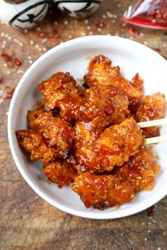 Baked General Tso Chicken Recipe - Pickled Plum