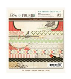 My Mind's Eye - Lost and Found 2 Collection - Rosy - 6 x 6 Paper Pad at Scrapbook.com $5.99