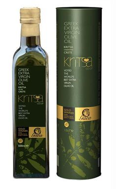 GAEA olive oil. Great design, awarded as the best olive oil in the world!Crete,Greece