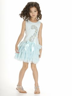 f71be8780095 Kate Mack Girl s Swan Lake Act 2 Dress Style  Light blue knit bodice Beaded  sequin swan design w  satin bow accent Drop waist petal tulle skirt Button  back ...