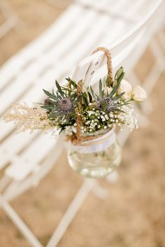 Humble meadow flowers feel fresh, modern and sincere. Wedding 2015, Chic Wedding, Perfect Wedding, Rustic Wedding, Wedding Day, Provence Wedding, Provence Style, Country Wedding Inspiration, Wedding Decorations