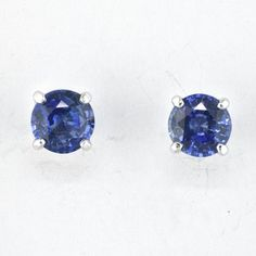 Blue Sapphire Stud Earrings by Faini Designs in Sioux Falls, SD!