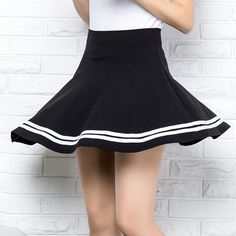Lovely students skirts from Fashion Kawaii [Japan & Korea] Korea Fashion, Japan Fashion, Harajuku Fashion, Kawaii Fashion, Navy Skirt, Dress Skirt, Skirt Fashion, Fashion Outfits, School Uniform Girls
