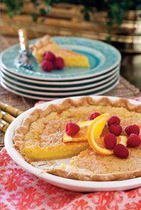 Orange-Buttermilk Chess Pie@PaulaDeenMagazine.com