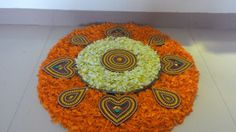 my art Diwali Decorations, Festival Decorations, Flower Decorations, Ganesh Rangoli, Indian Rangoli, Rangoli Designs Diwali, Kolam Designs, Diwali Celebration, Diwali Rangoli