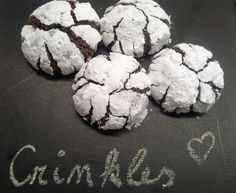 Christmas Baking, Christmas Cookies, Crinkles, Sweet Recipes, Cookie Recipes, Muffin, Sweets, Chocolate, Breakfast