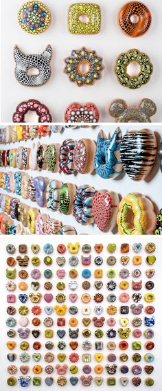 Donut Worry Be Happy: Pop Culture References on Expertly Glazed Ceramic Donuts by Jae Yong Kim Ceramics Projects, Art Projects, Ceramics Ideas, Ceramic Painting, Ceramic Art, High School Ceramics, Happy Pop, Advanced Ceramics, Pop Culture References